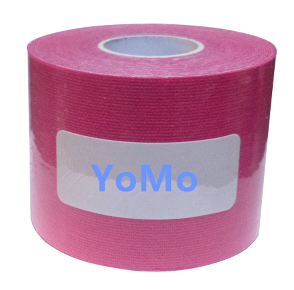 YoMo TAPE PRO Elastic Kinesiology Therapeutic Tape 4'' x 16.5' Uncut (Pink)