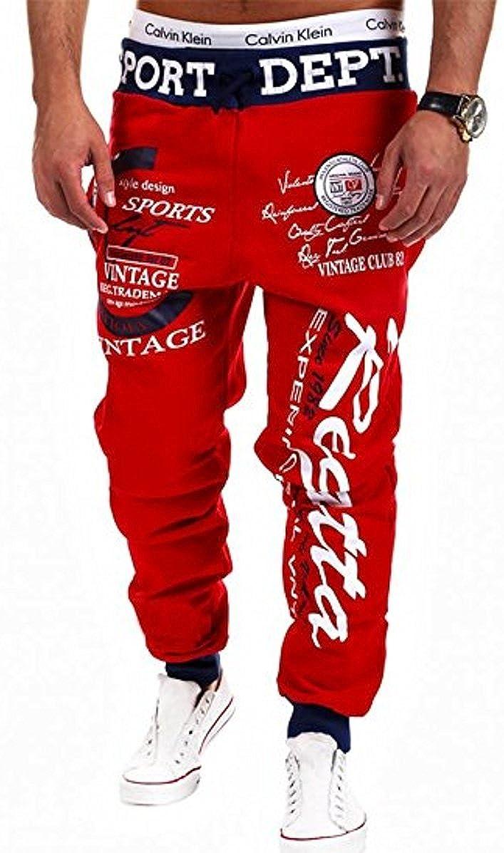 Venxic Mens Drawstring Colorful Joggers Hip Hop Sweat Pants Gym Workout Outfit ven758