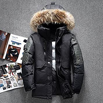 b2ef1abe9 men winter jacket thick warm white duck down coat clothing casual ...