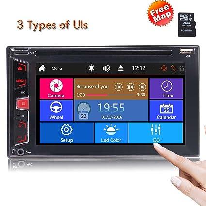 Amazon com: 2 Din Car Radio DVD Player in Dash GPS
