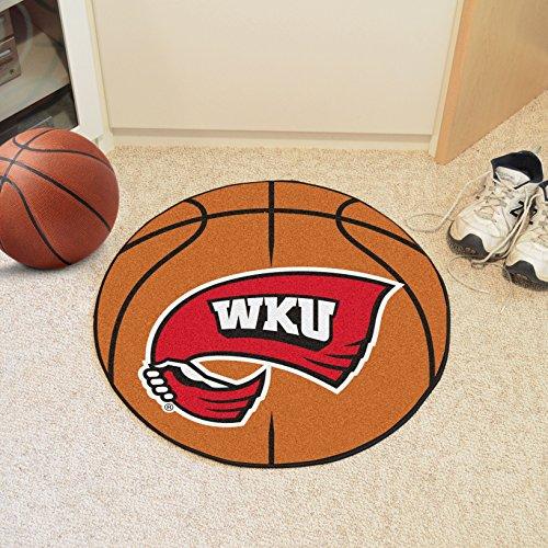 FANMATS NCAA Western Kentucky University Hilltoppers  Nylon Face Basketball Rug