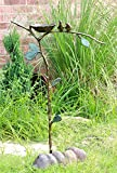 Ebros Gift Romantic Pair of Lovebirds by Nest On Branch Twigs Aluminum Garden Stake and Bird Feeder 32″ Tall