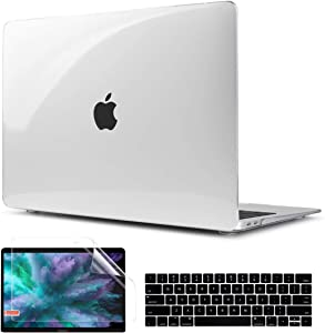 TwoL MacBook Pro 13 inch Case 2016-2019, Hard Shell Case Keyboard Skin and Screen Protector for New MacBook Pro 13 inch A2159 A1989 A1706 Crystal Transparent