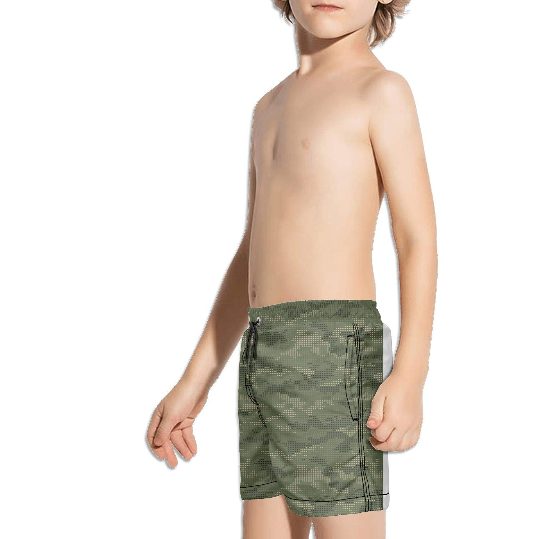 uejnnbc Green Army Digital camo Waterproof Slim Fit Stretch Board Swimming Trunks Shorts