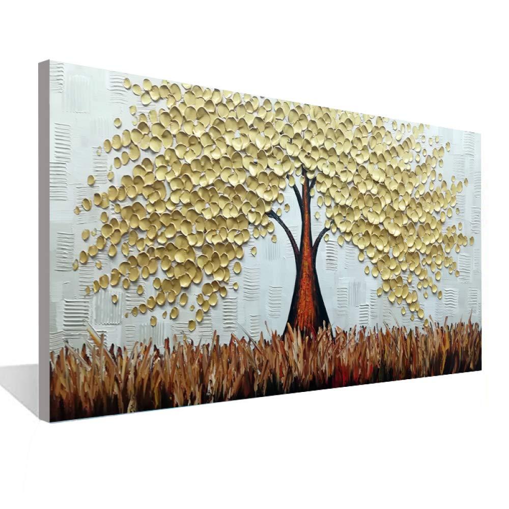 WSNDGWS Flor Blanca 3D Lienzo Pintura al óleo Sala de Estar ...