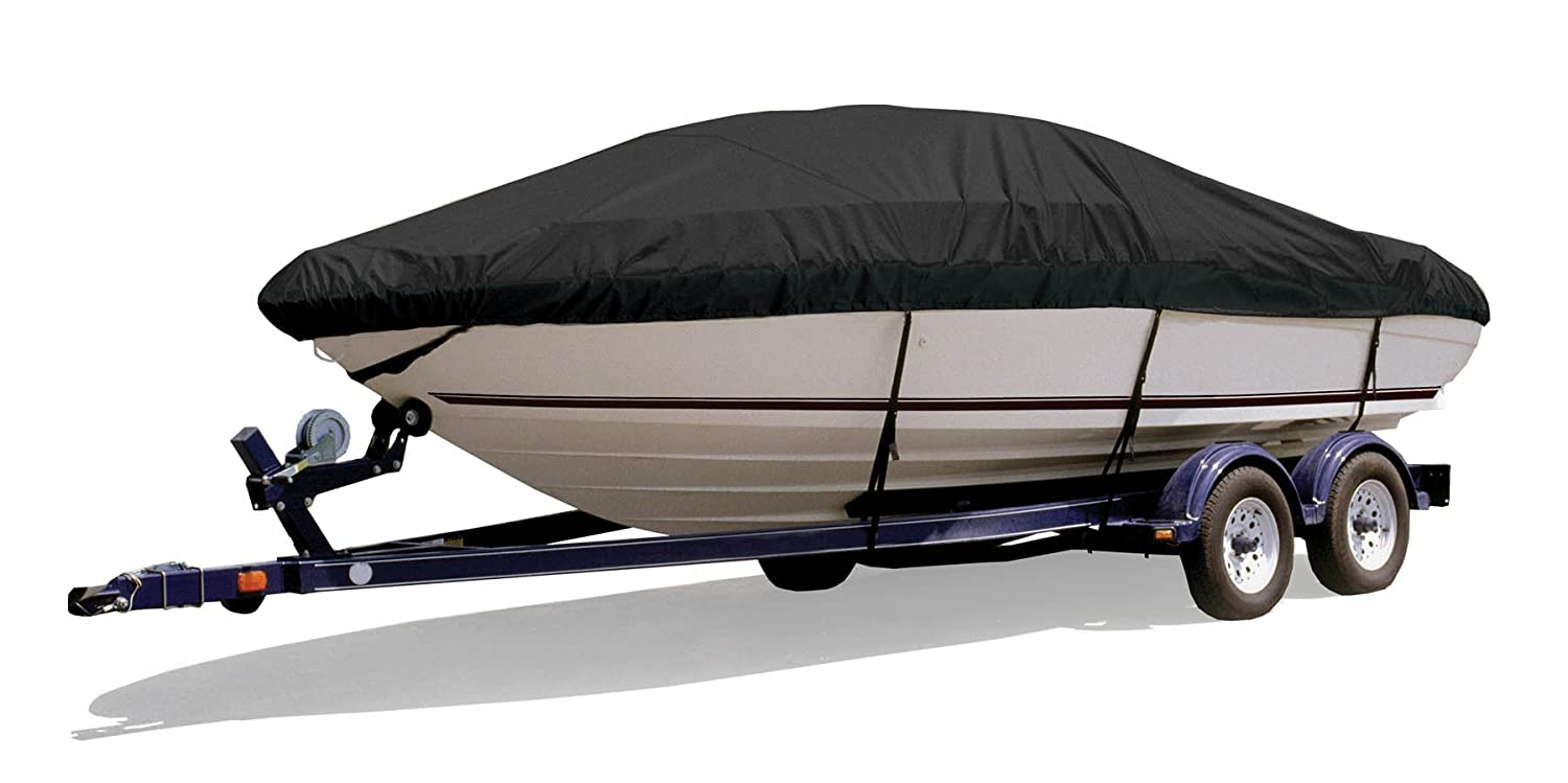 Black 20-Feet 4-Inch Length Overall x 96-Inch Beam Width SF73220OR 19-Feet 5-Inch Outboard Survivor Marine Products Boat Cover for Tri-Hull Style Boats
