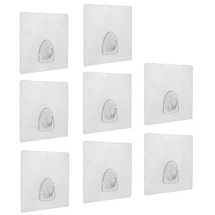Amazon.com: Adhesive Hooks(13.2lb/6kg) Heavy Duty Sticky Wall ...