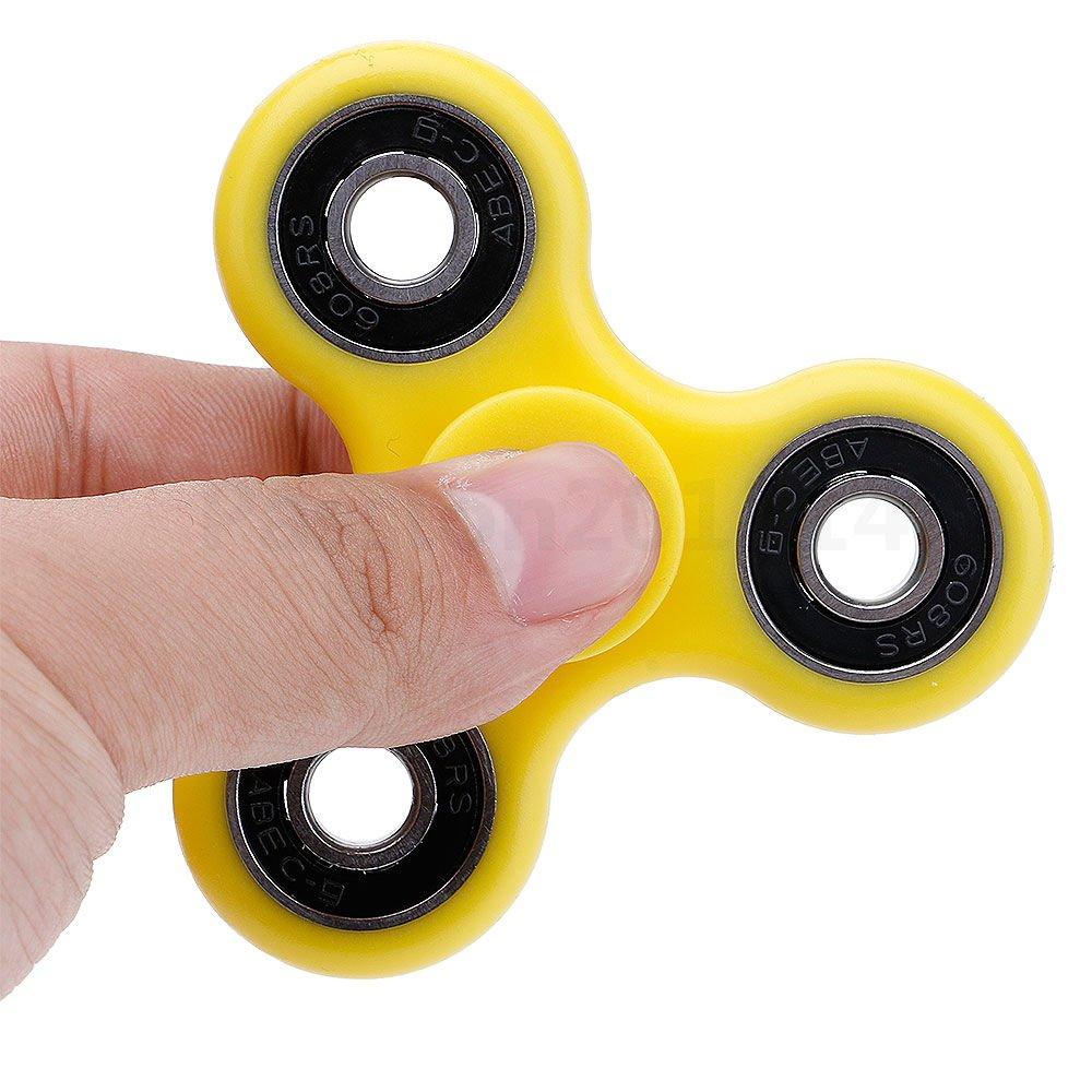 Aeoss Tri Spinner Fidget Toy with Premium Hybrid Ceramic Bearing, Yellow