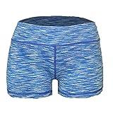 Yoga Shorts - Booty Shorts (Light Blue Space Dye, XL/12)