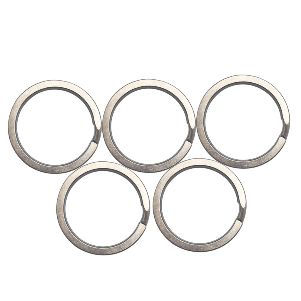 Haxtec Titanium Key Rings Durable Tight Split Rings Large Capacity Key Holders Customization Pack of 5 YJ