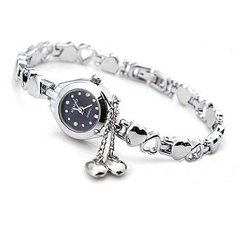 Ketten armband  Fashion Frauen Silber Quarz Herz Charme Verbindungs Ketten Armband ...