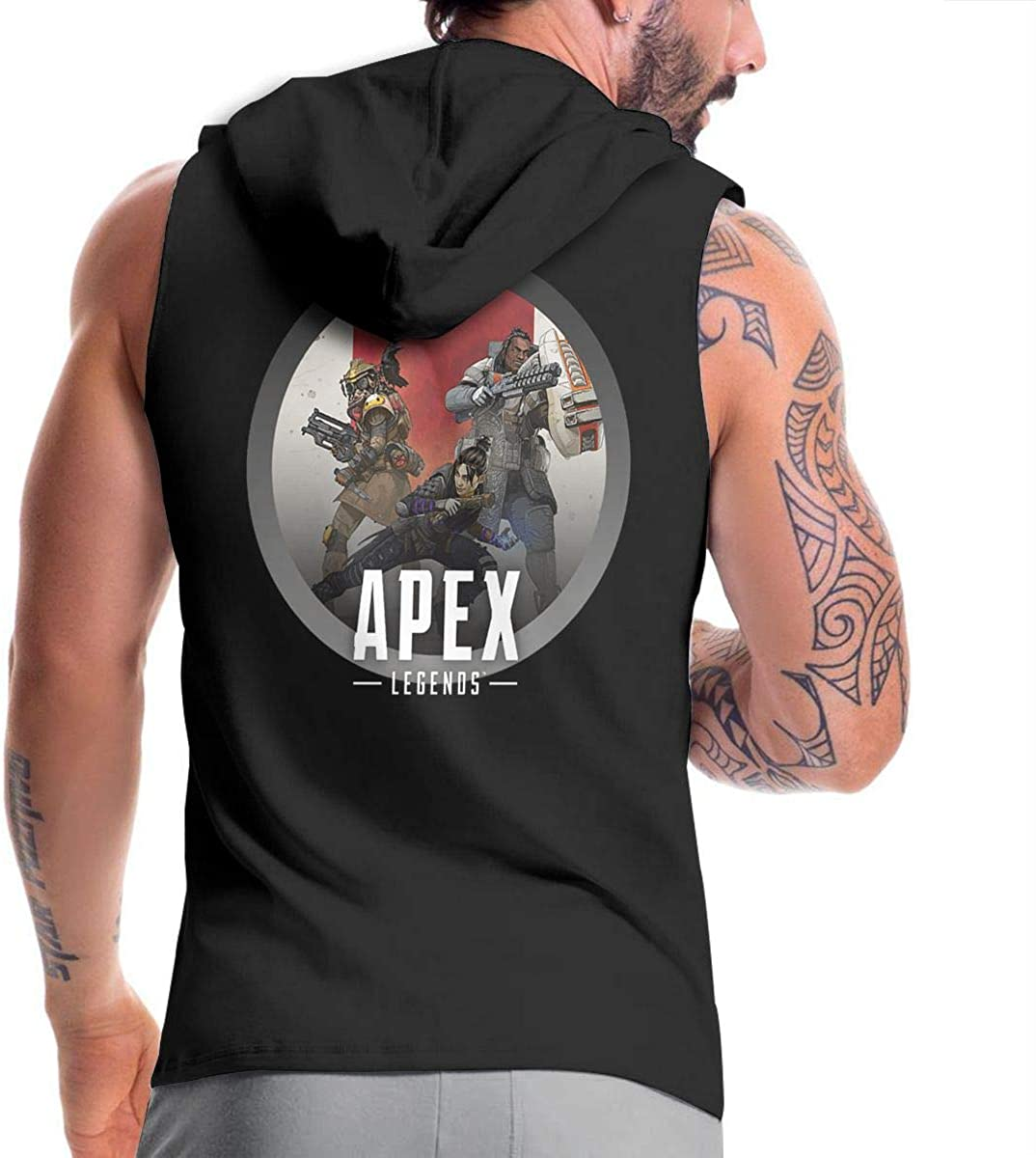Syins Mans with Hood Sack Apex Legends Novelty Zipper Sweaters