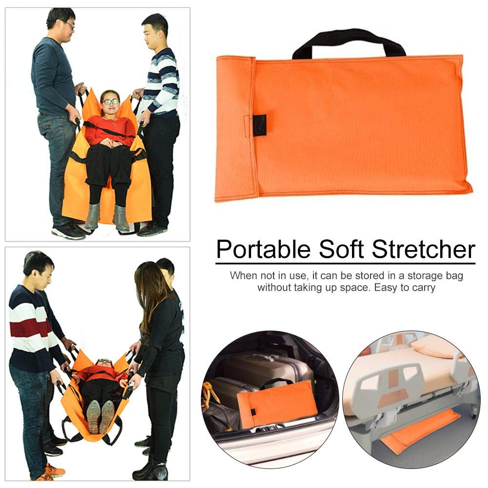 HC Portable Stretcher Thickened Canvas Medical Stretcher with Handbag Folding Household First Aid Soft Stretcher Excitement Carefully bouncevi