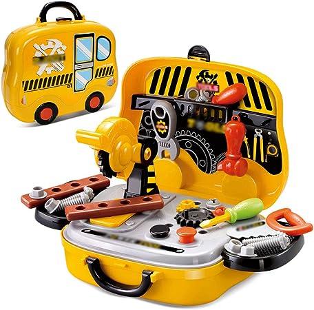 Byx- Juguetes - Caja de Herramientas para niños Juego de Juguetes Reparación Reparación de bebés Herramienta Destornillador de Escritorio - Regalo de cumpleaños para niños -Juguetes: Amazon.es: Hogar