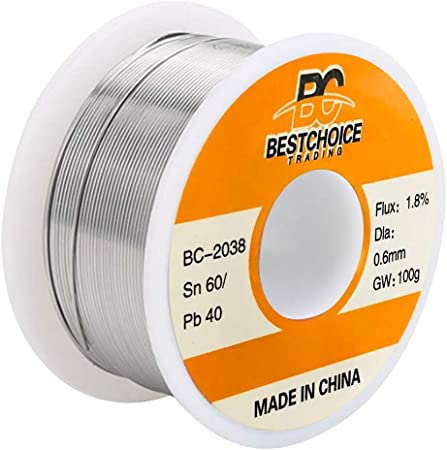Solder Wire 0.8mm 60//40 Diamneter Free Clean Rosin Core Low Melting Point High