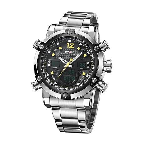 66d4ebb52bf Pixnor WEIDE 5205 Men s LED Digital and Quartz Sports Wrist Watch (Orange)