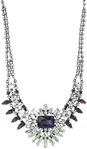 Steve Madden Women Alloy Rhinestone Statement Necklace, 12 Inch - SMN590620BSM1, Multi Color