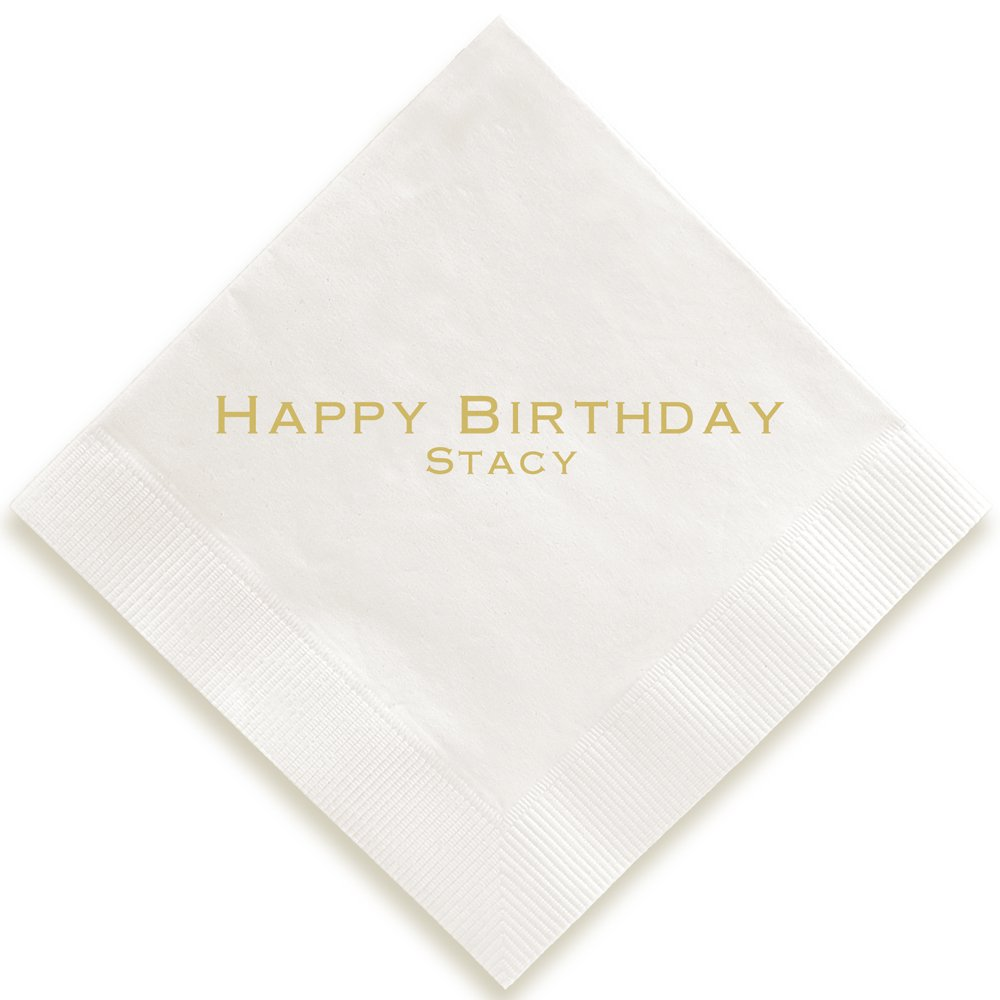 Personalized Expression Napkin - Foil-Pressed (White) by Embossed Graphics