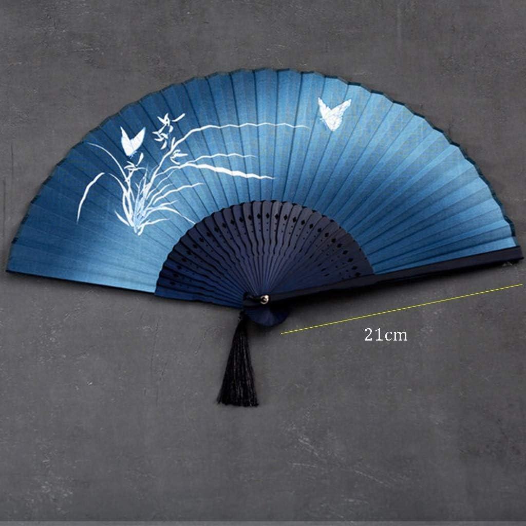 WHQ Ventilador Plegable con manivela, Estilo japonés, Verano y ...