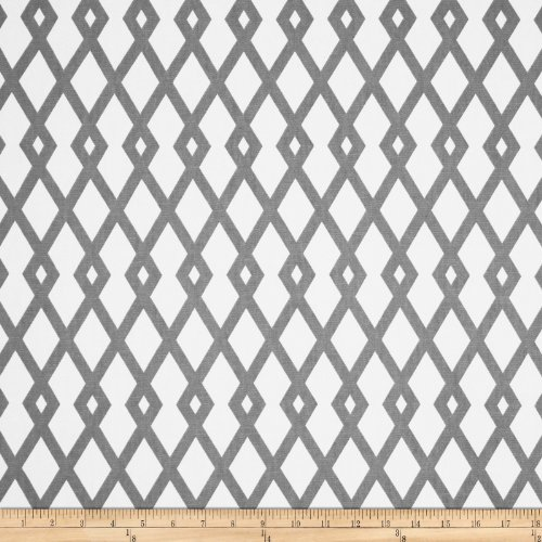 Robert Allen Home Graphic Fret Greystone Fabric by The ()