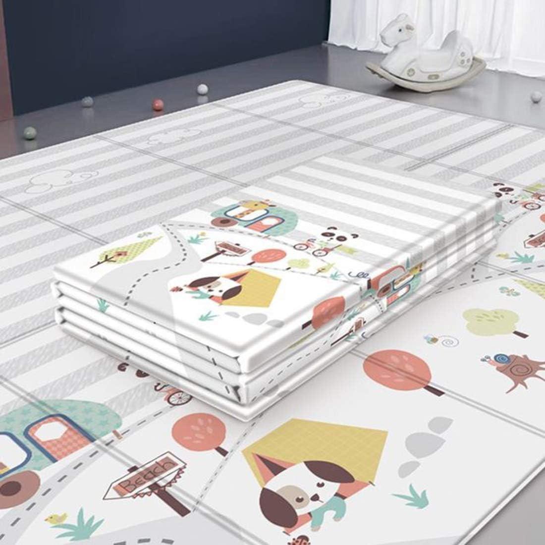 K9CK Alfombra Infantil Impermeable - Alfombras de Juegos para Bebes - Plegable Manta Juegos Bebe Suelo - 200 x 180 x 1cm