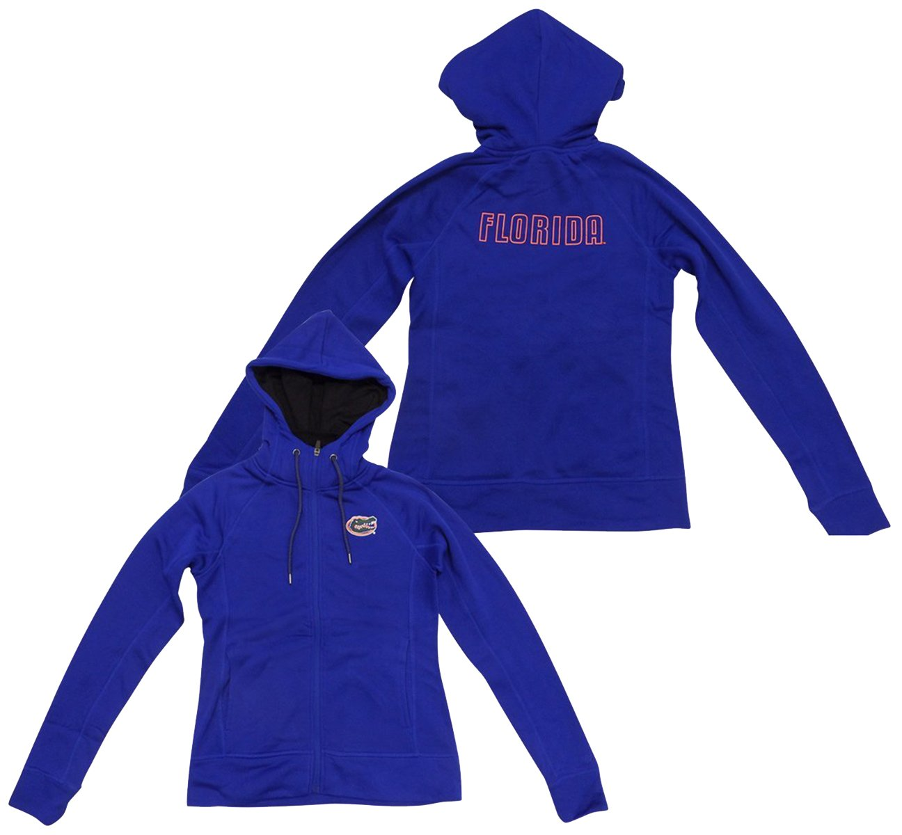 Florida Gators Women 's Medley Poly Fleece Full Zipフード付きスウェットシャツ Large  B073XH1TGD