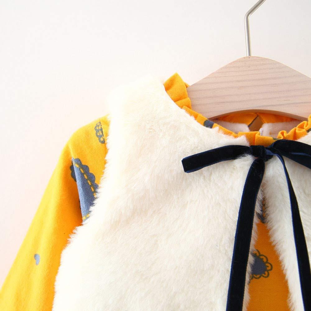 Chaleco Trajes Conjunto de Ropa ❤️ Amlaiworld Vestido de Princesa Caliente reci/én Nacido de Dibujos Animados de ni/ñas beb/é Vestidos ni/ña oto/ño Invierno