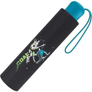 Scout Kinder Regenschirm Taschenschirm Schultaschenschirm Mit Reflektorstreifen Extra Leicht Fussball Goal
