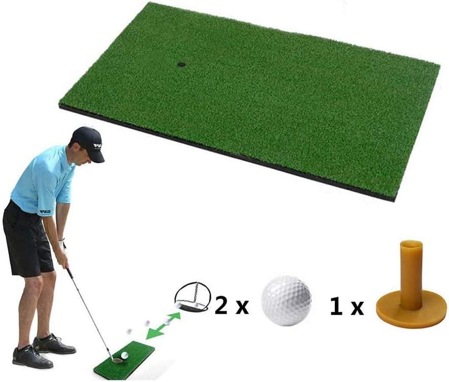 Golf Alfombras de práctica Golf Driving Mat con 1 Golf tee 2 Golf para precisión y práctica de Swing 40 x 70CM / 50x80cm / 100x100cm