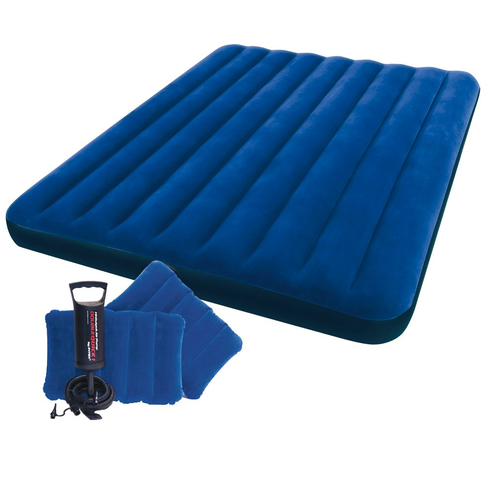 Intex Inflatable Airbed Air Mattress Blow Up Bed Hand Pump