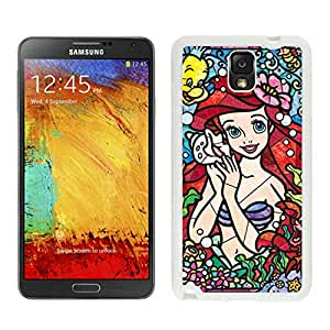 Attractive Case Stained Glass Ariel The Little Mermaid White Phone Case for Samsung Galaxy Note 3