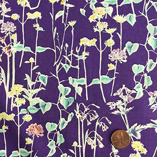 - Liberty Tana Lawn Spring Silhouette Purple - Sold by the Yard