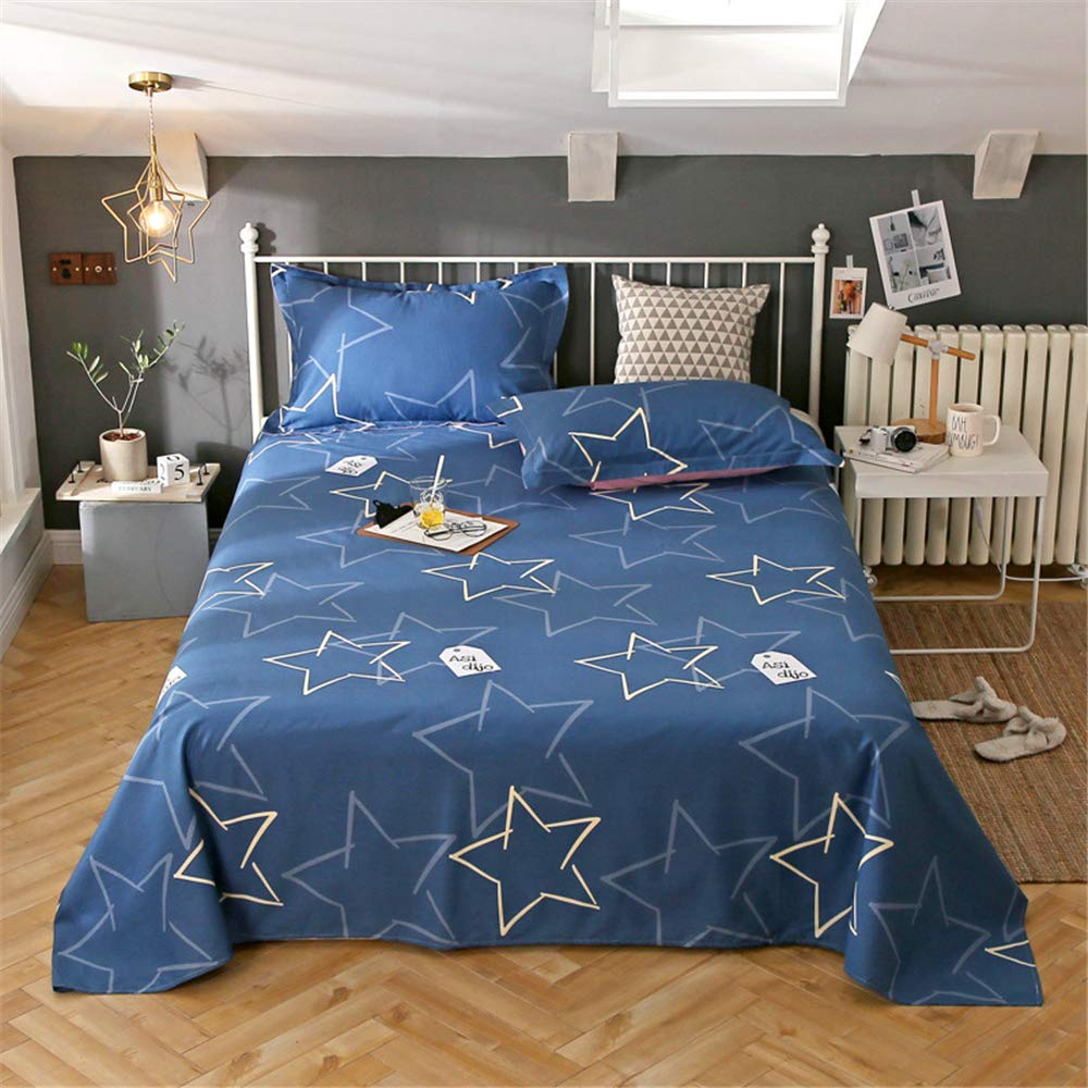 Single Piece of Cotton Sheets Printed Cartoon Cotton Non-Slip Twill Quilt Single Single Student Dormitory can be Customized Shining Star 230250cm by iangbaoyo