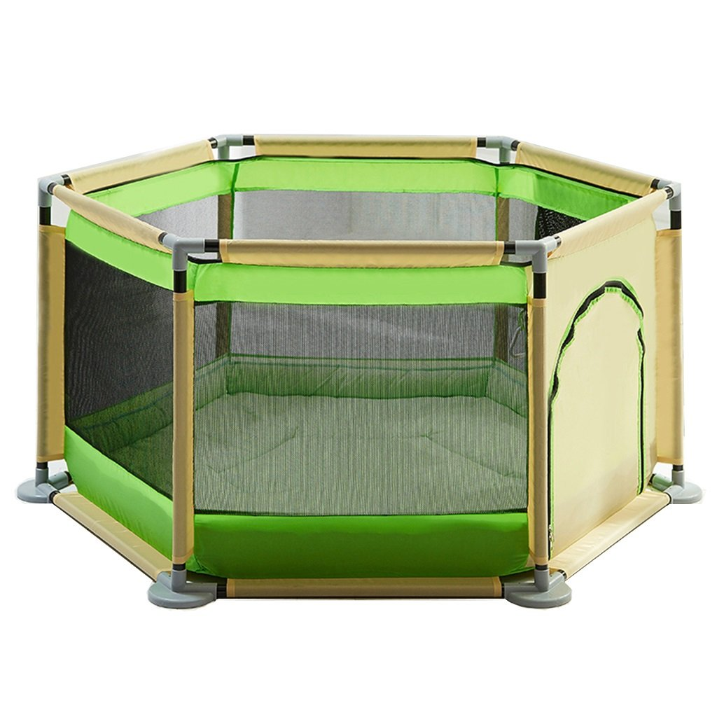 Yxsd Baby Play Fence Child Protection Playpen Home Indoor Playground (Color : Green)