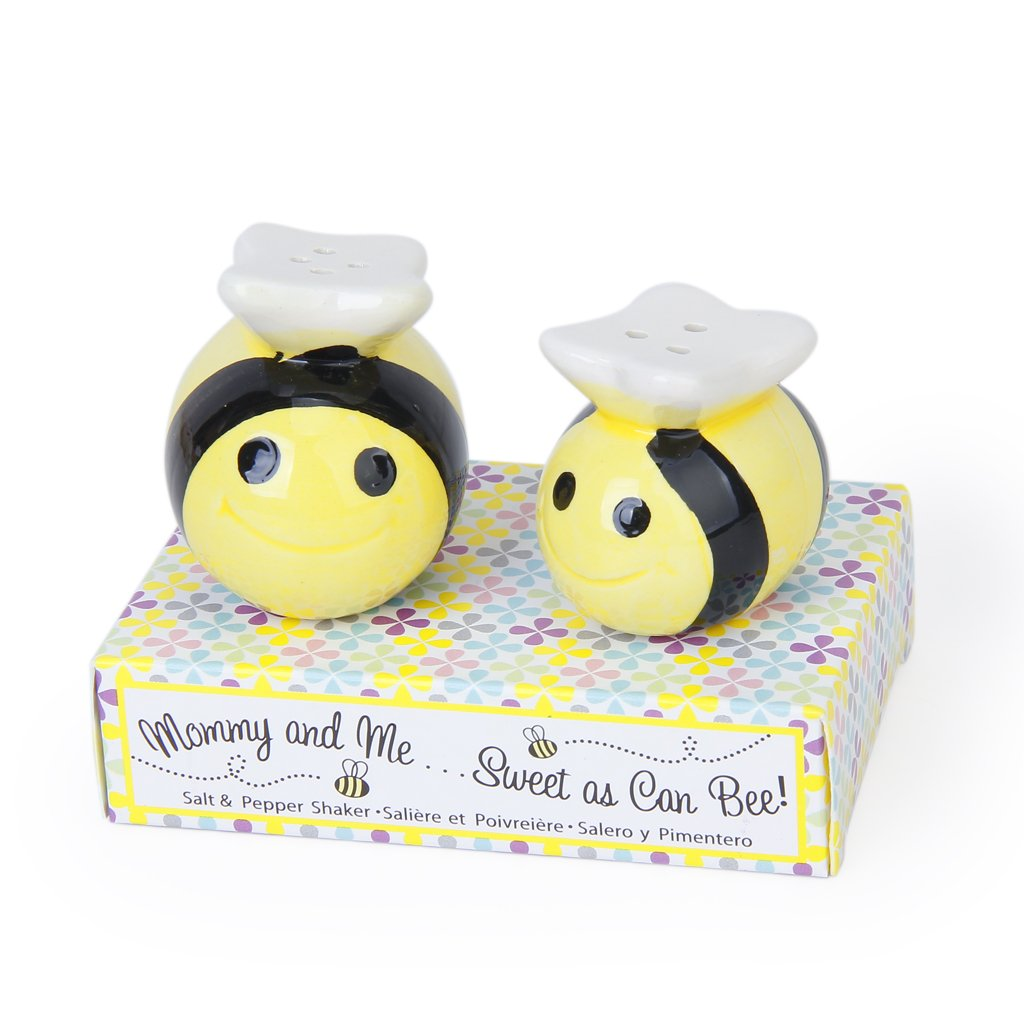 Ceramic Bee-Pattern Salt and Pepper Shakers Wedding Party Bag Fillers Gife Set Generic STK0115010703