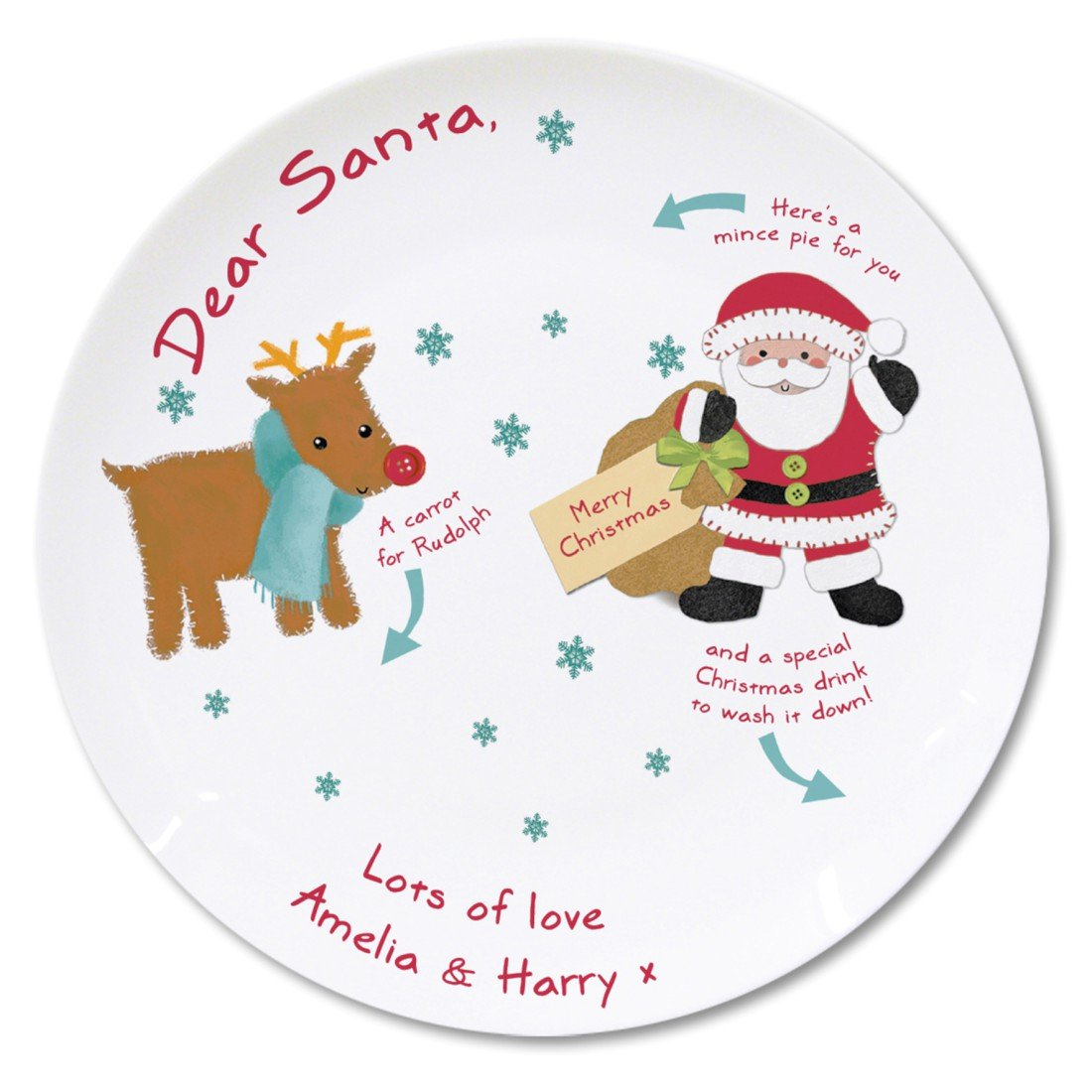 Felt Stitch Friends Mince Pie Plate Gifts, and, Cards Wedding, Gift, Idea Occasion, Gift, Idea Personalised Personalised Memento