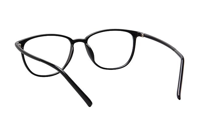 SHINU Ovale Lunettes Cadres en Acier Inoxydable Optical Frame Lens Clear Prescription Eyeglasses Frames-SR8026(C2) RKoeJ
