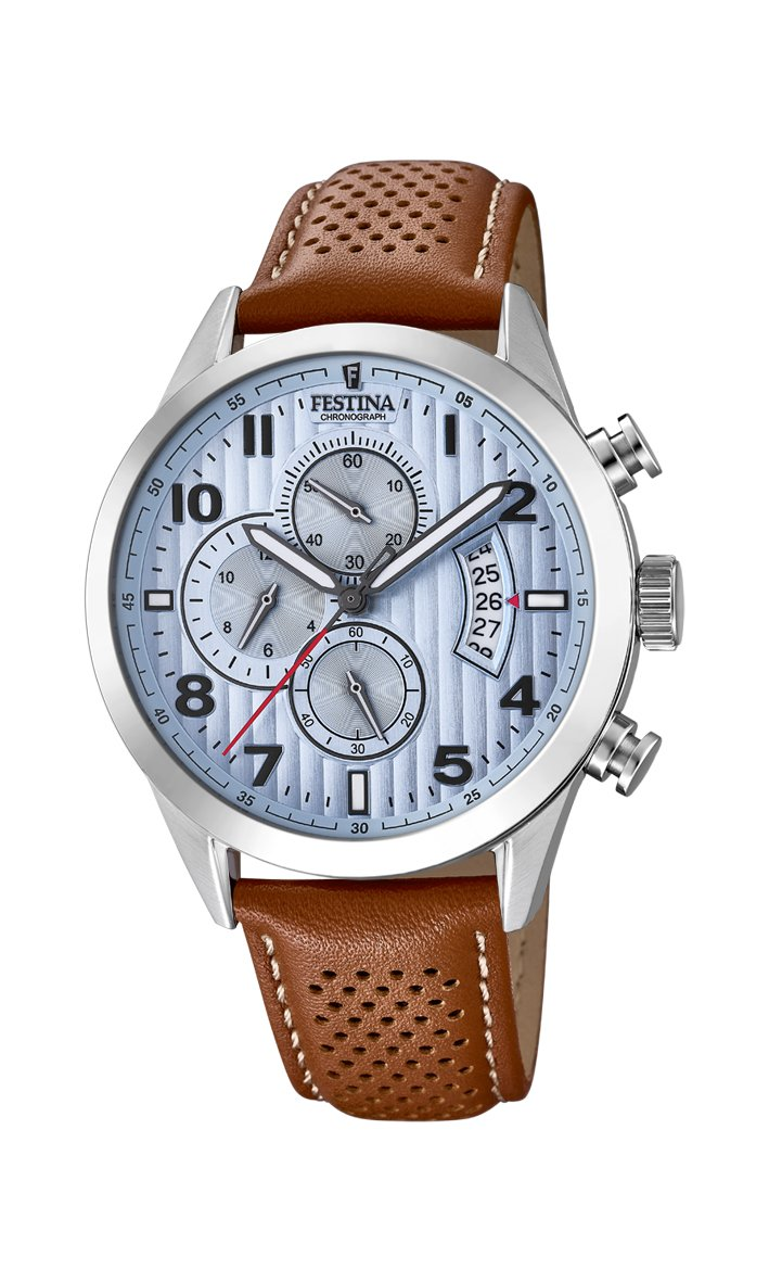 Men's Watch Festina - F20271/4 - Quartz - Chronograph - Date - Leather Band