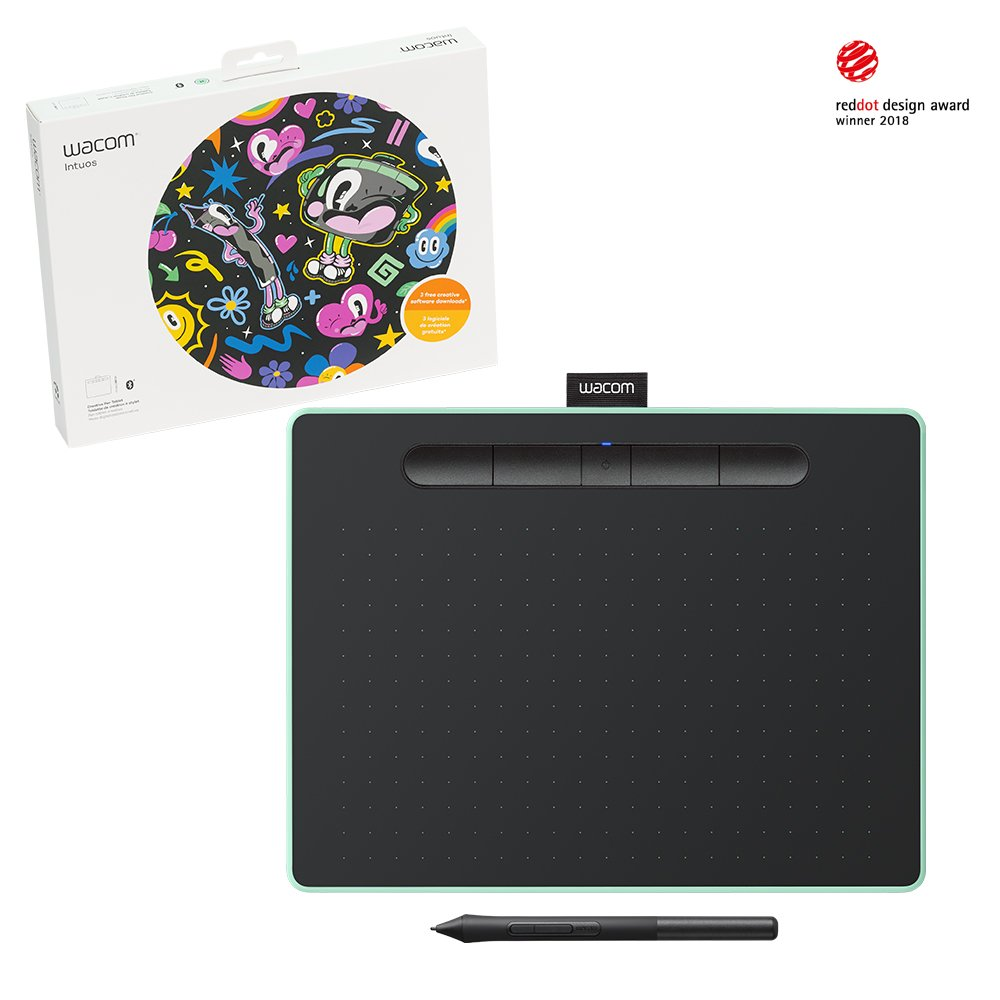 Wacom Intuos Wireless Graphic Tablet, with 3 Free Creative Software
