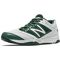New Balance turf 4040?V3合成网眼男式缓解棒球鞋 white-green