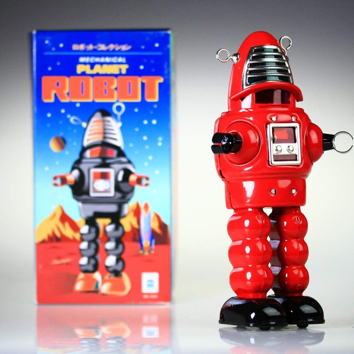 HwaStudio MS430 Estaño Rojo Planeta Robot mecánico, Robby el Robot, Vintage Reproducción acción Integral Juguete Rojo NOSTÁLGICA: Amazon.es: Hogar