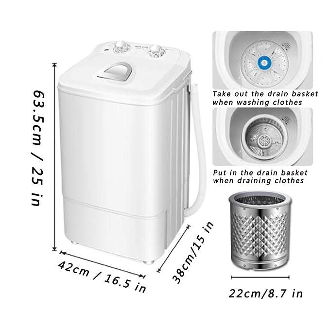 Lavadora De Barril Simple, Mini Lavadora Compacta Portátil ...