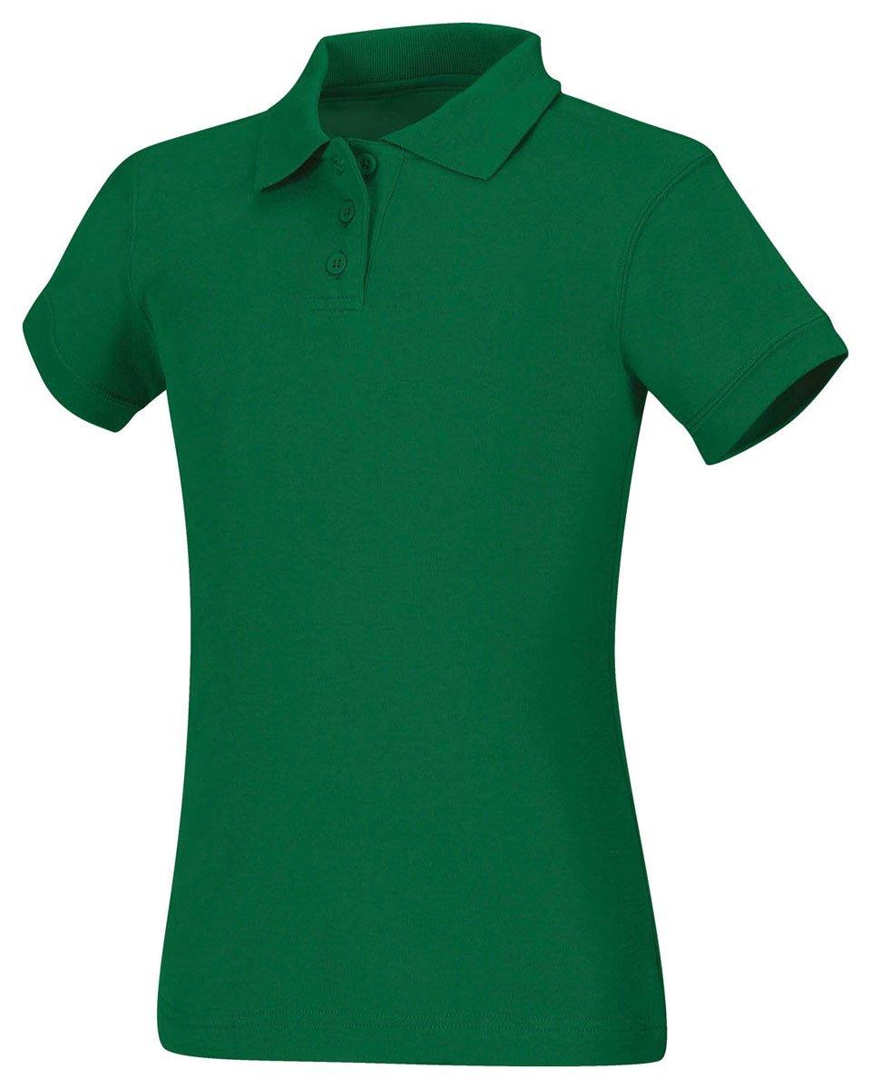 Classroom Uniforms Junior's Short Sleeve Fitted Interlock Polo, Sos Kelly Green, M