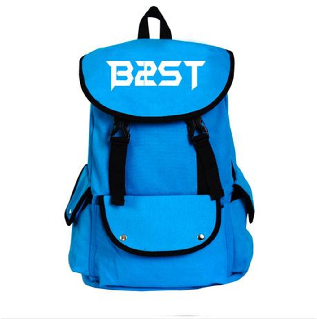 Amazon.com: Beast Kpop B2st Accessories merchandise canvas backpack school bag Fanmade (Red): Home & Kitchen