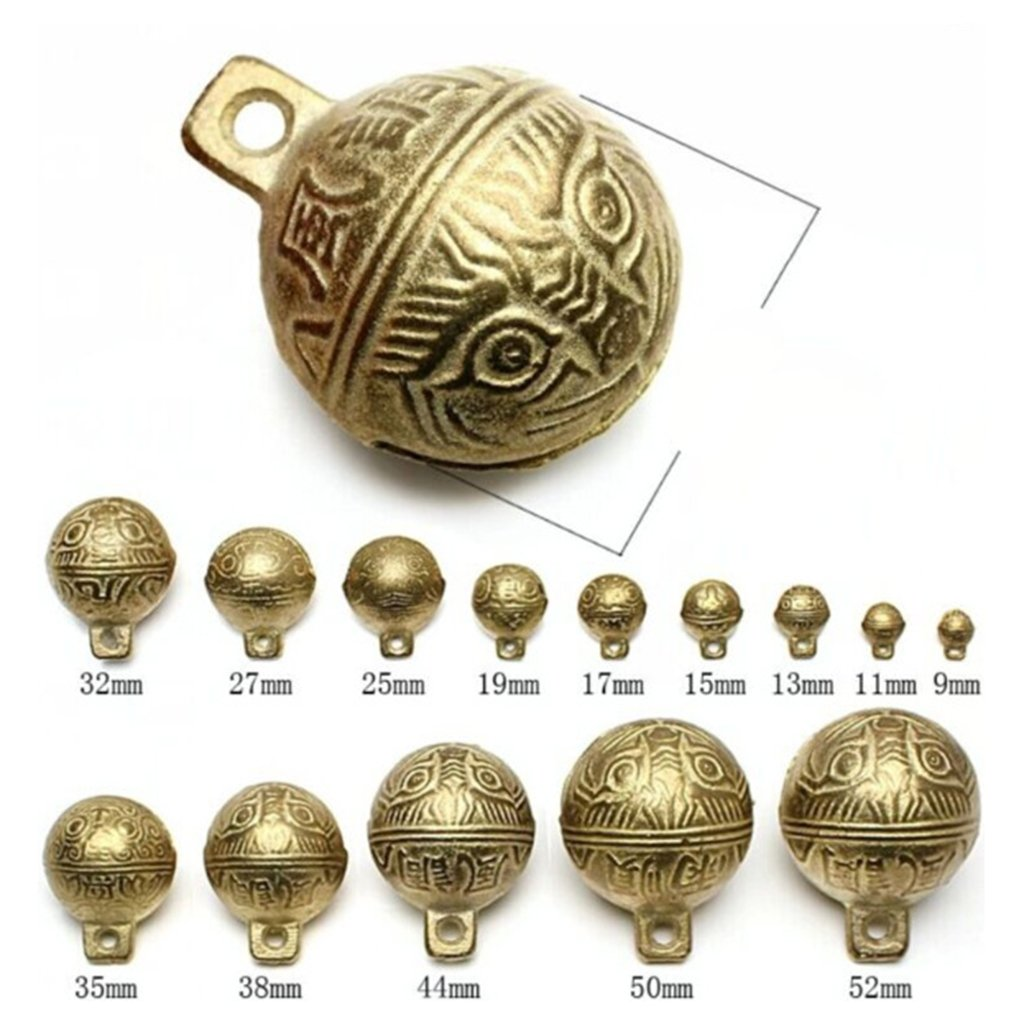 Homyl 20 pcs Brass Jingle Bells for crafts Wind Bells Accessories Home Crafts Hanging Decor 1.1 cm