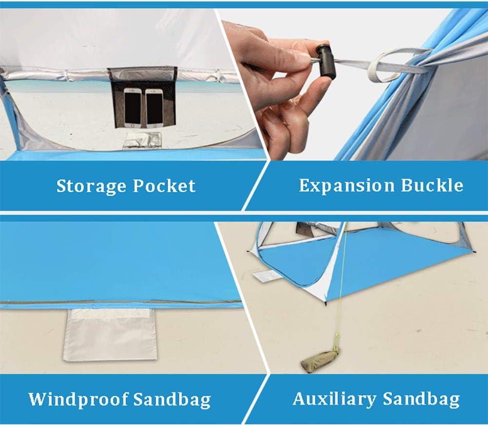 WIEJDEOOL Pop Up Strandmuschel Beach Zelt,Uv Schutz Automatisch Strandzelt Pop Up,Tragbar Outdoor Camping Strandmuschel 2-3 Personen B