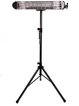 Halógeno infrarrojos Estufa Vertical Black Series 1800 Juego | alta temperatura de la superficie 2200 °