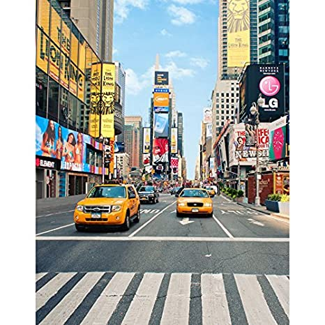 5x7ft vinyl new york time square street taxi photography studio backdrop background