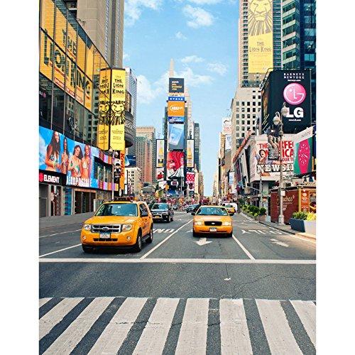 5x7ft Vinyl Digital Taxi New York City Street Foreign Photography Studio Backdrop Background
