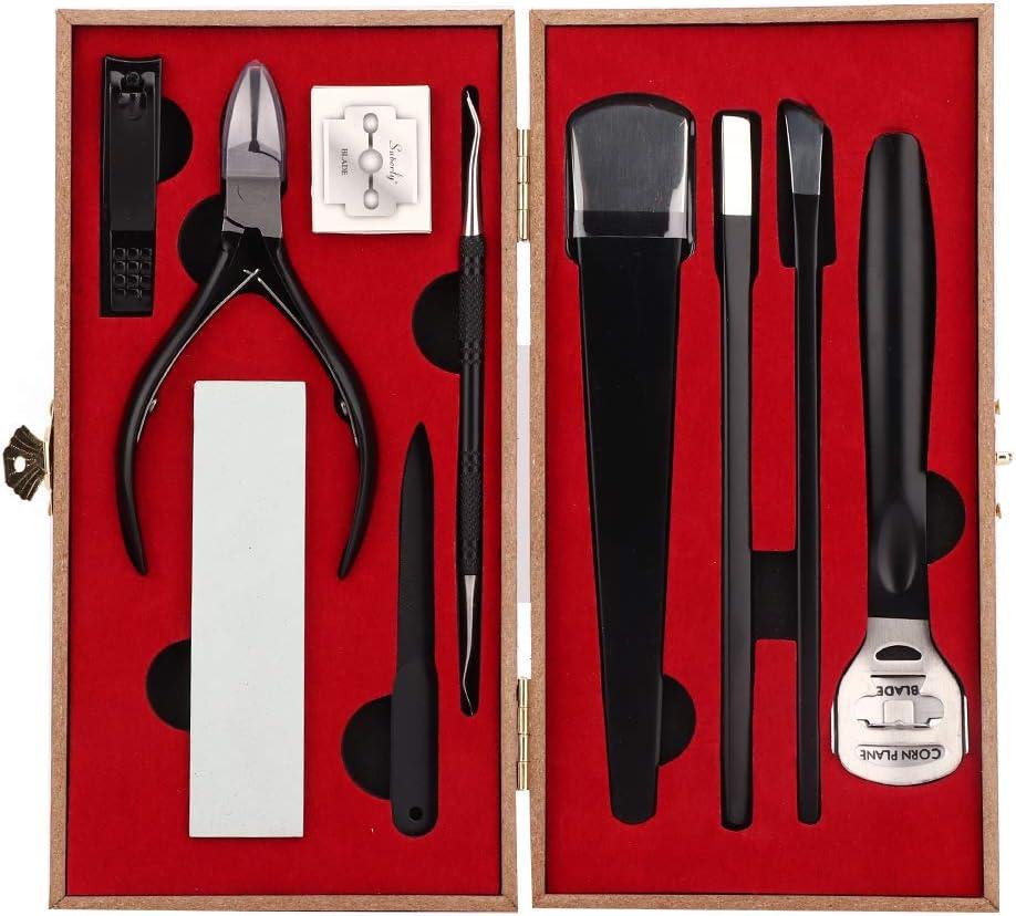 Manicure Pedicure Set, 8 piezas Pedicure Manicure Nail Care Cutter Tool Kit Juego de removedor de callos de piel dura de acero inoxidable para mujeres y hombres(1#)